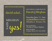 couples / bridal shower invitation - DIY printable by YellowBrickStudio