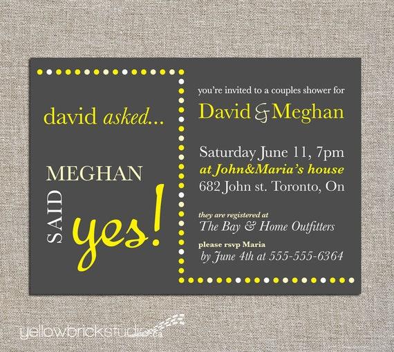 couples / bridal shower invitation - DIY printable by YellowBrickStudio