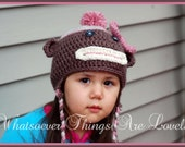 Sock Monkey hat ( Made to Order)