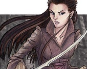 Arwen with a Sword - Lord of the Rings - 2x6 Laminated Bookmark