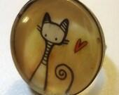 Cat Ring - Art Jewelry