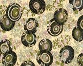 Japanese Yuzen Chiyogami Washi Paper (Fan Parasol Design 03) - A4 Sheet