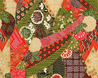 Japanese Yuzen Chiyogami Washi Paper (Abstract Design 16) - A4 Sheet