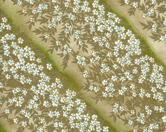 Japanese Yuzen Chiyogami Washi Paper (Floral Design 13) - A4 Sheet