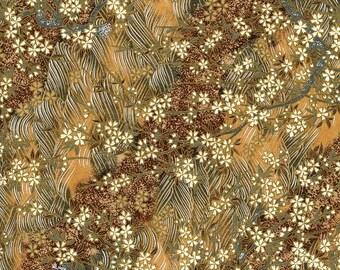 Japanese Yuzen Chiyogami Washi Paper (Floral Design 14) - A4 Sheet