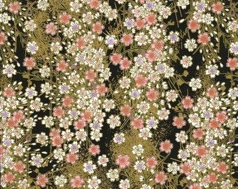 Japanese Yuzen Chiyogami Washi Paper (Floral Design 16) - A4 Sheet