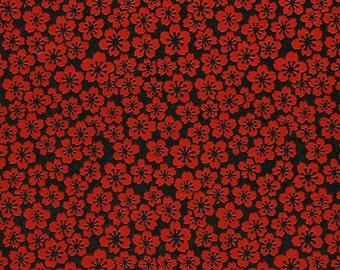 Japanese Yuzen Chiyogami Washi Paper (Floral Design 51) - A4 Sheet