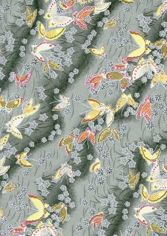 Japanese Yuzen Chiyogami Washi Paper (Butterfly Design 04) - A4 Sheet