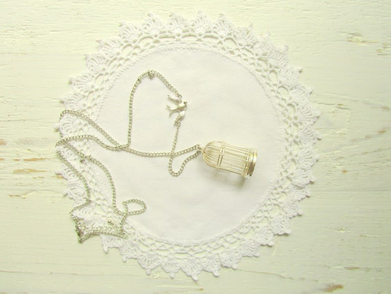 White Cotton Fabric and White Crochet mix Doily (9 inches)