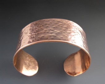 Hammered Copper Cuff Bracelet - Metal Cuff - Textured Bracelet