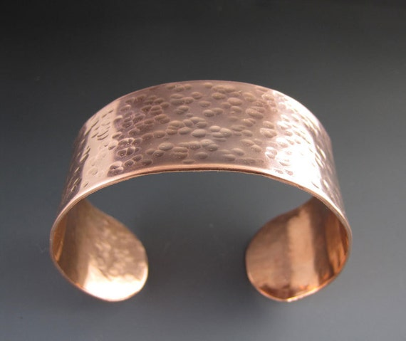 Inspirational Bracelet - Be Yourself - Hammered Copper Cuff - Oscar Wilde