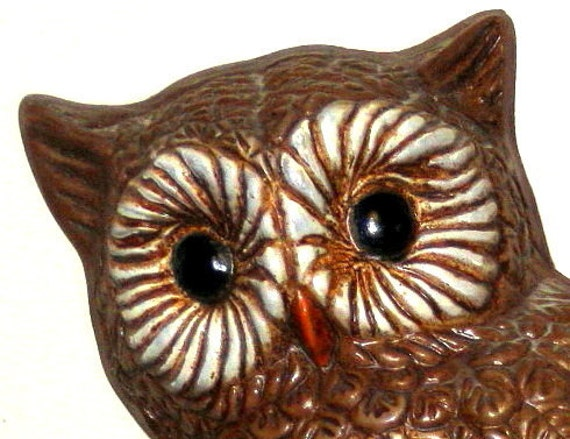 Retro Owl Wall Hangings - Set of two