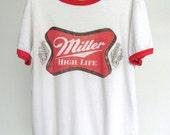 Miller HIGH LIFE 50/50 sheer vintage ringer tee