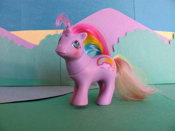 Baby Rainribbon vintage My Little Pony unicorn with rainbow hair