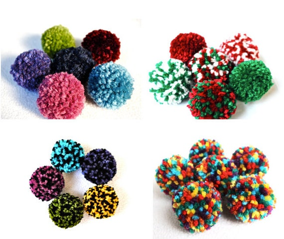 Catnip Pom Pom Cat Toys (Set of Six) - Choose Your Custom Colors