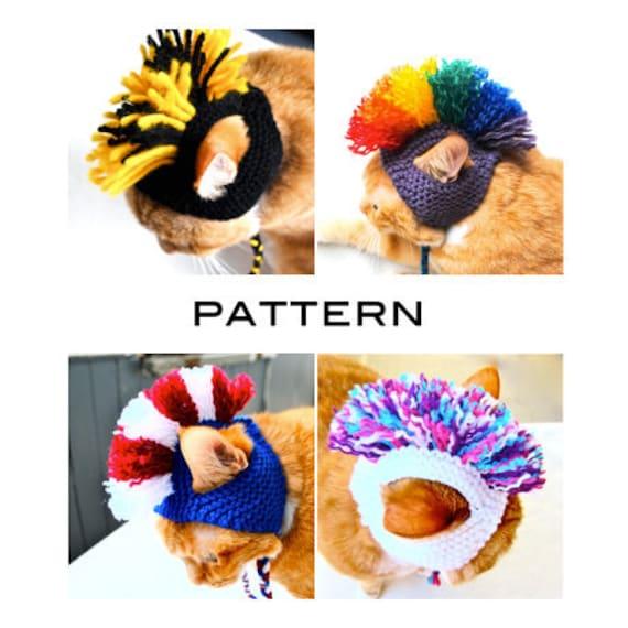 Mohawk Cat Hat -  Knitting Pattern (RESERVED FOR OMGEMMALEE)