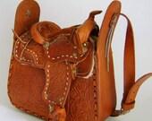 Vintage Saddle Purse