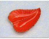 Orange Pottery Ashtray Trinket Dish USA Sale 10% OFF