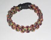 """Paracord Survival Bracelet - Confetti- with 3/8"""" Buckle"""