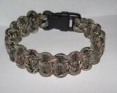 """Paracord Survival Bracelet - Desert Camo - with 5/8"""" Buckle"""