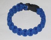 """Paracord Survival Bracelet - royal blue with a 3/8"""" buckle"""