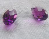 Rich Purple Amethyst Faceted Swarovski Crystal Briolettes
