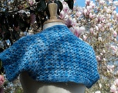Summer Sky Knitted Lace Shrug