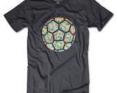 Joga Bonito Soccer Football Futbol T-Shirt - Asphalt - American Apparel