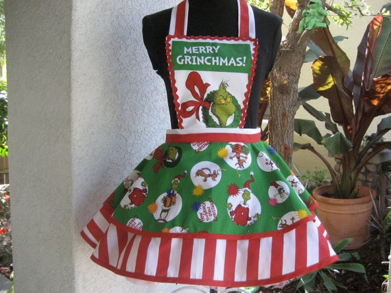 The Grinch Christmas Apron