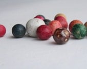 Vintage Clay Marbles Colorful-Old