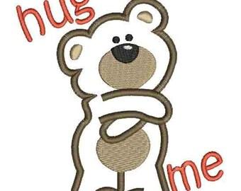 hug me applique machine embroidery design Instant Download