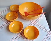 HOLD FOR JUDITH Danish Yellow Bowl Set designer Erik Kold