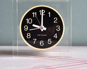 HOLD FOR NIXON - Seth Thomas Modernist Floating Lucite Clock