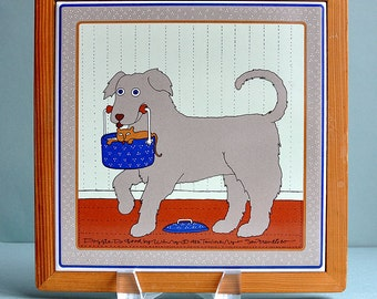 "Taylor & Ng 'Doggie Do Good"" Tile"