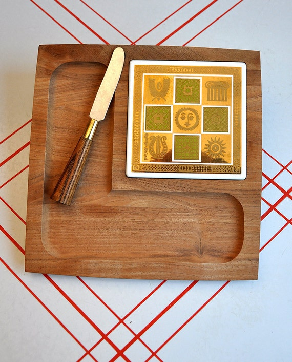 HOLD FOR MATT Woodlands Cheese Board by Georges Briard
