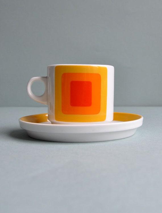 "Op Art ""Joy 3"" Cup & Saucer - Rosenthal Studio Linie"