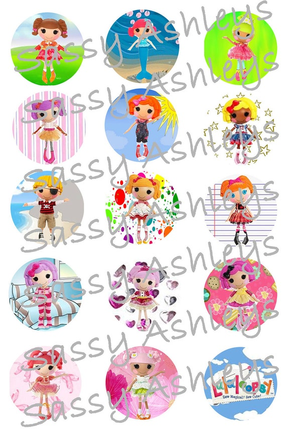 LaLaLoopsy 1-inch Circle Bottle Cap Images Digital File: Jewelry, Hair Bows, Cupcakes, Scrapbooking, and so much more