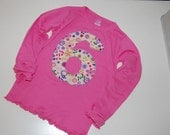 Girls Long Sleeve Number Birthday Tee