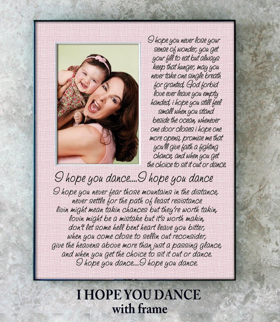 I Hope You Dance Song Lyrics 11x14 Photo Mat By Fancythisphoto