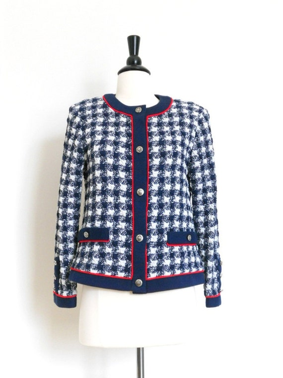 Stuart Alan Red, White and  Navy Blue Jacket size 8