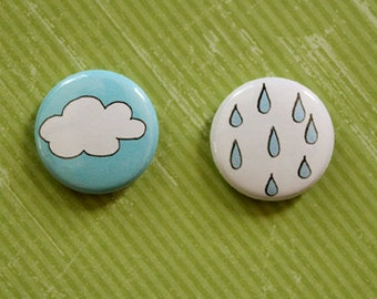 Cloudy/Rainy Pair - 1 inch