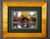 The Colors of Autumn - Appomattox Riverside Park - Virginia, 5x7 matted and framed in an 8x10  in Honey Amber Rock Maple