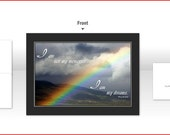 "4x5.5"" Any Occasion Card (blank inside) - Colorado Rocky Mountains Rainbow with Inspirational Quote"