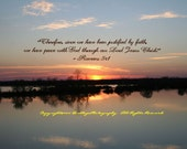 Sunset Over Pond 2 with Verse - Lovers Lane - Augusta, GA