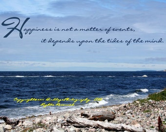 Newfoundland Shores with Inspirational Quote