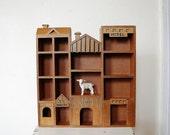 House Shelf Wooden Curio Wall Decor