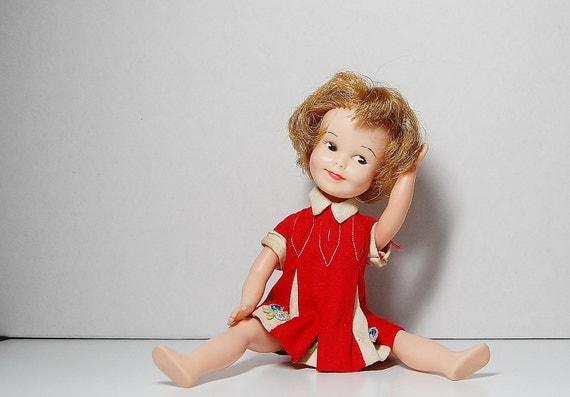 Penny Brite Deluxe Reading Doll Red Dress 1963