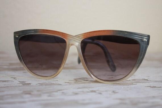 Vintage 1980's Oversized Italian Sunglasses