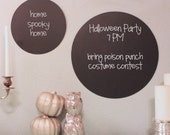 Round Magnetic Chalkboard set