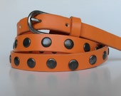 Vintage orange belt